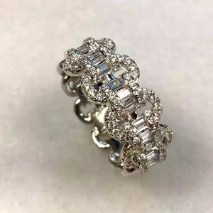 Sterling Silver linked engagement ring